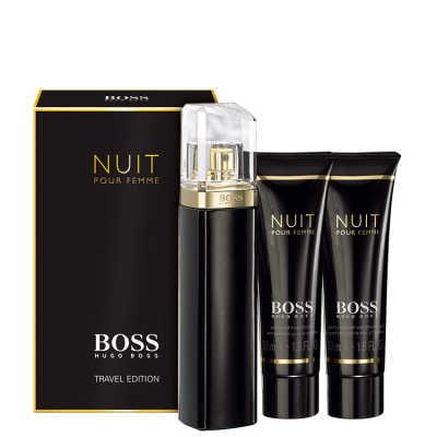 Hugo Boss Conjunto Feminino Boss Nuit Pour Femme - Eau de Parfum 75ml + Loção Corporal 50ml + Gel de Banho 50ml
