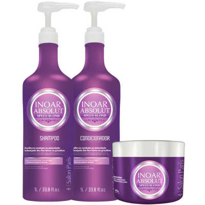 Inoar Absolut Speed Blond Trio Kit (3 Produtos)
