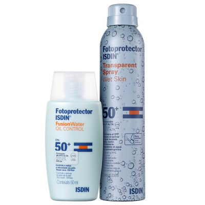 ISDIN Fotoprotector Oil Control Wet Skin Kit (2 Produtos)