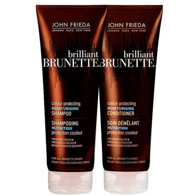 John Frieda Brilliant Brunette Colour Protecting Moisturising Duo Kit (2 Produtos)