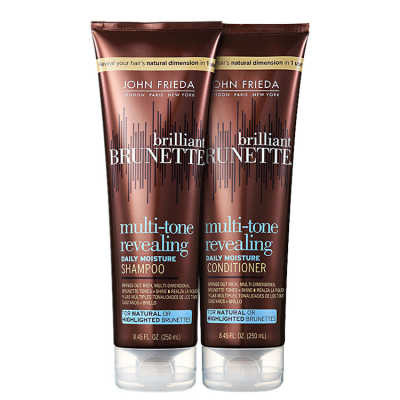 John Frieda Brilliant Brunette Moisturizing Duo Kit (2 Produtos)