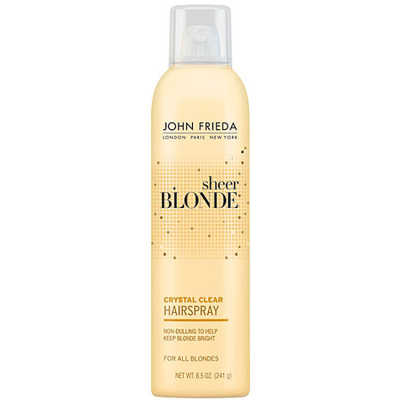 John Frieda Sheer Blonde Crystal Clear Shape & Shimmer Hairspray - Finalizador 240g