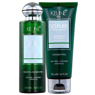 Keune So Pure Exfoliating Duo Kit (2 Produtos)