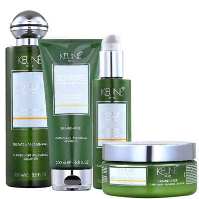 Keune So Pure Moisturizing Overnight Treatment Kit (4 Produtos)