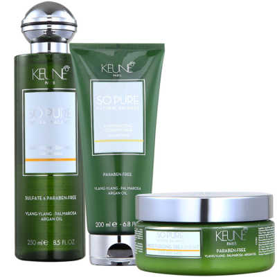 Keune So Pure Moisturizing Treatment Kit (3 Produtos)