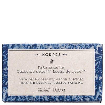 Korres Leite de Coco Hidratante - Sabonete Cremoso em Barra 100g