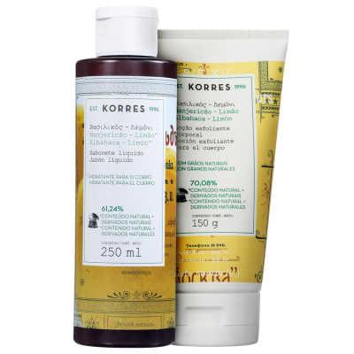 Korres Manjericão-Limão Kit Corpo e Banho (2 Produtos)
