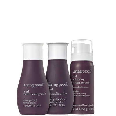 Living Proof Curl Mousse Travel Kit (3 Produtos)