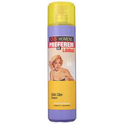 Lola Cosmetics Os Homens Preferem as Loiras Violet Silver - Shampoo 1000ml