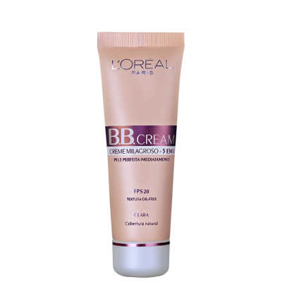 L'Oréal Paris Creme 5 em 1 FPS 20 Claro – BB Cream 50ml