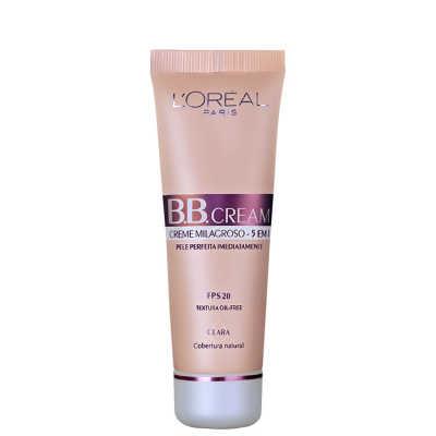 L'Oréal Paris Creme 5 em 1 FPS 20 Claro – BB Cream 50ml