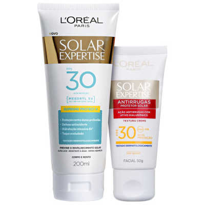 L'Oréal Paris Expertise Supreme Protect 4 - Protetor Solar Corporal FPS 30 200ml + Protetor Solar Facial FPS 30 50ml