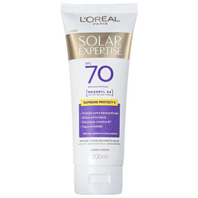 L'Oreál Paris Solar Expertise Supreme Protect 4 FPS 70 - Protetor Solar 200ml