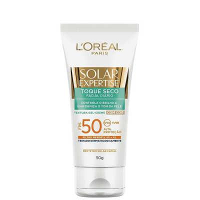 L'Oréal Paris Solar Expertise Toque Seco FPS 50 com Cor - Protetor Solar 50g