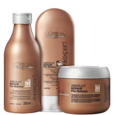 L'Oréal Professionnel Absolut Repair Pós-Química Multi-reconstrutor Intensivo Kit (3 Produtos)