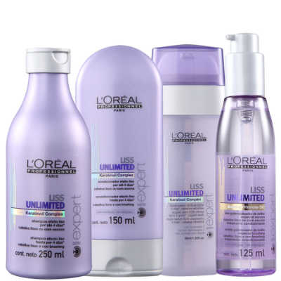 L'Oréal Professionnel Liss Unlimited Sos Shine Kit (4 Produtos)