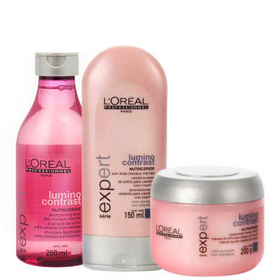 L'Oréal Professionnel Lumino Contrast Shine Treatment Kit (3 Produtos)