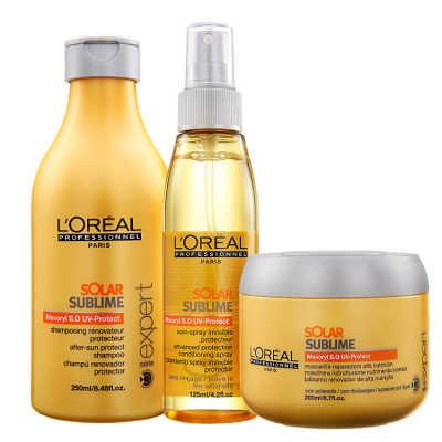 L'Oréal Professionnel Solar Sublime Uv Protection Kit (3 Produtos)