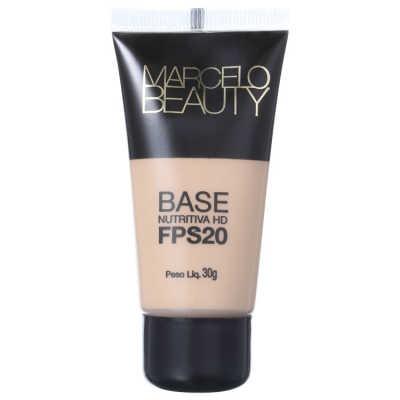 Marcelo Beauty Nutritiva HD FPS 20 Bege Natural - Base 30ml