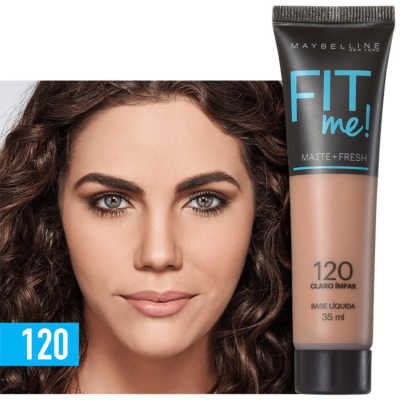 Maybelline Fit Me! Toque Matte + Fresh 120 - Base Líquida 35ml
