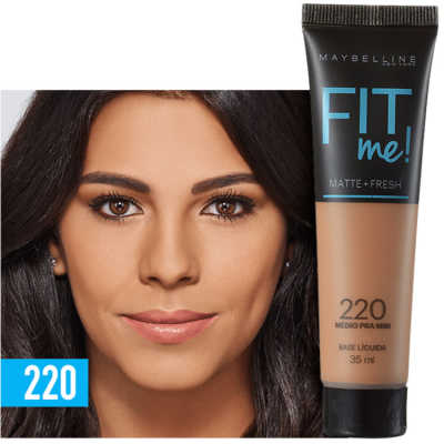 Maybelline Fit Me! Toque Matte + Fresh 220 - Base Líquida 35ml