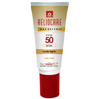 Melora Heliocare Max Defense Gel Color Fps 50 Nude Light - Protetor Solar 50g