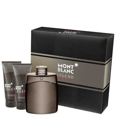 Montblanc Conjunto Masculino Legend Intense - Eau de Toilette 100ml + Gel de Banho 100ml + Pós-Barba 100ml