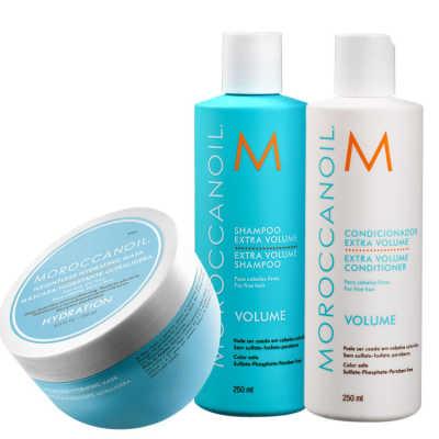 Moroccanoil Extra Volume Hydrating Kit (3 Produtos)