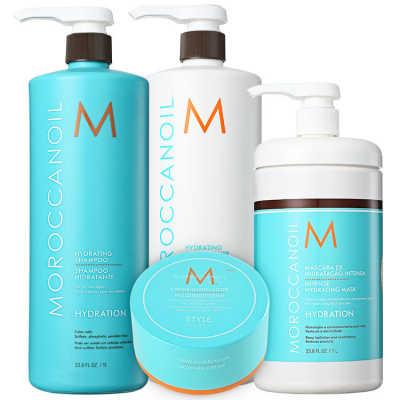 Moroccanoil Hydrating Complete Kit (4 Produtos)