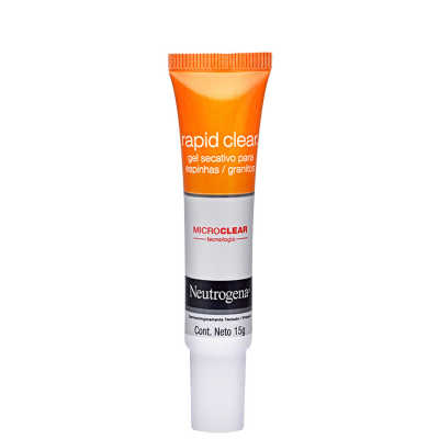 Neutrogena Rapid Clear Gel Secativo para Espinhas - Redutor de Acne 15g