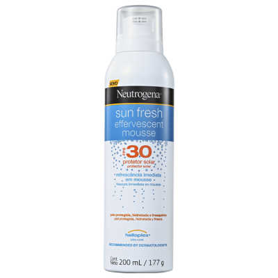 Neutrogena Sun Fresh Effervescent Mousse FPS30 - Protetor Solar 200ml
