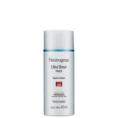 Neutrogena Ultra Sheer Liquid Lotion - Protetor Solar Facial FPS 35 45ml