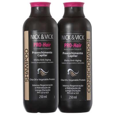 Nick & Vick PRO-Hair Preenchimento Capilar Anti-Aging Kit (2 Produtos)