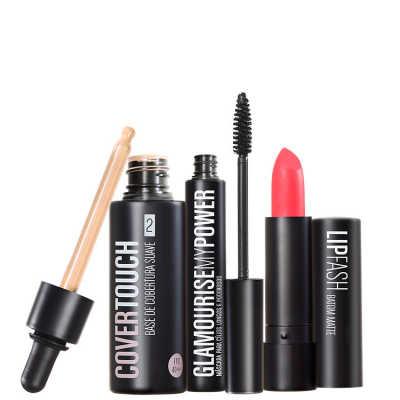 Cover Touch 2 Glamourise Lip Fash Apocalips Kit (3 Produtos)