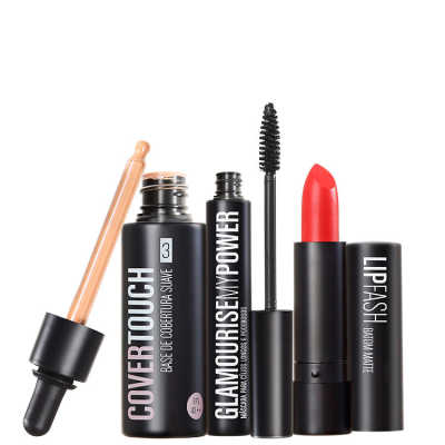 Cover Touch 3 Glamourise Lip Fash Cassandra Kit (3 Produtos)