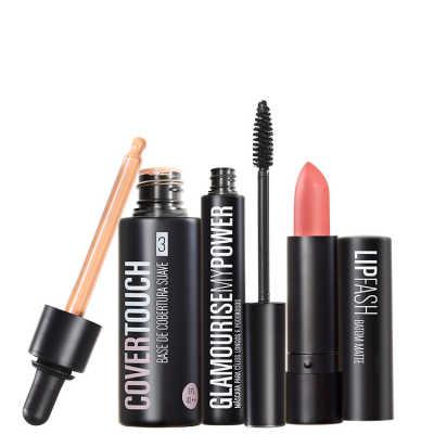 Cover Touch 3 Glamourise Lip Fash Gorgeous Nut Kit (3 Produtos)