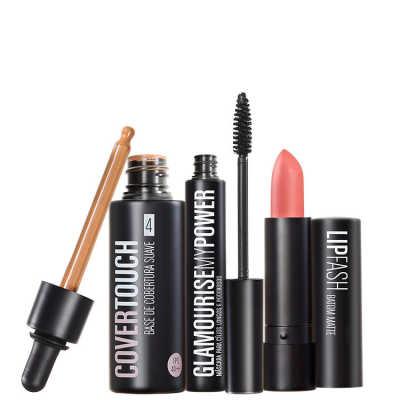 Cover Touch 4 Glamourise Lip Fash Gorgeous Nut Kit (3 Produtos)