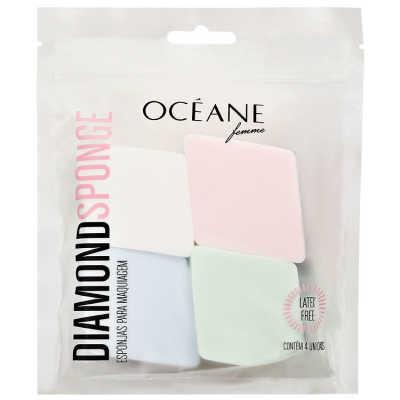 Océane Femme Diamond Sponge - Esponja para Base e Corretivo 4un