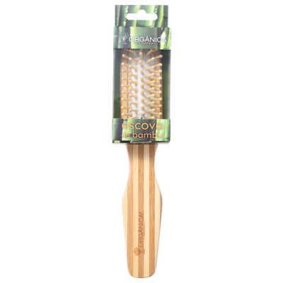 Orgânica Bambu Retangular - Escova de Cabelo