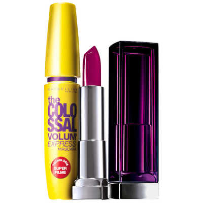 Maybelline The Colossal Lips and Eyes Kit Roxo Provocante (2 Produtos)