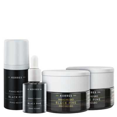 Korres Black Pine - Kit para peles normais a mistas (4 Produtos)