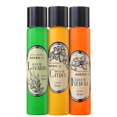 Phebo Perfumaria Águas de Phebo Cítrico Kit – Eau de Cologne 3x 20ml
