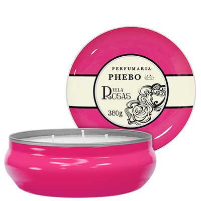 Phebo Perfumaria Águas de Phebo Rosas - Vela Perfumada 380g