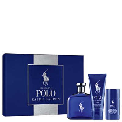 Conjunto Polo Blue Ralph Lauren Masculino - Eau de Toilette 125ml + Gel de Banho 100ml + Desodorante 75ml