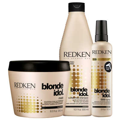 Redken Blonde Idol Multi-Benefit Kit (3 Produtos)