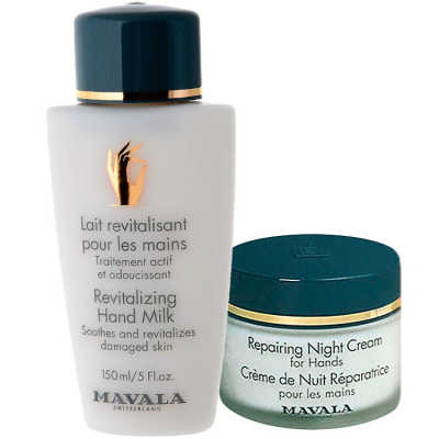 Mavala Revitalizing Milk and Repairing Night Cream for Hands Kit (2 Produtos)
