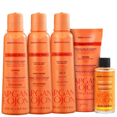 Richée Professional Argan e Ojon Full Kit (5 produtos)