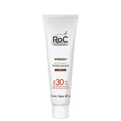 RoC Minesol Actif Unify Tinted Mousse Deep - Protetor Solar Facial FPS 30 40g