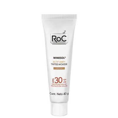 RoC Minesol Actif Unify Tinted Mousse Medium - Protetor Solar Facial FPS 30 40g