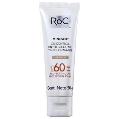 RoC Minesol Oil Control Tinted FPS 60 - Protetor Solar Facial 50g